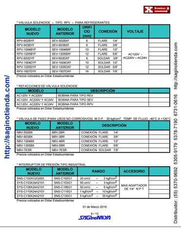 Page 8 of ▷ VÁLVULAS Y CONTROLES AUTOMÁTICOS - Rimsa Saginomiya - Página 08 - http://saginotienda.com/