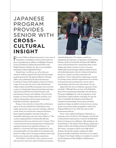 Page 11 of JAPANESE PROGRAM PROVIDES SENIOR WITH CROSSCULTURAL INSIGHT