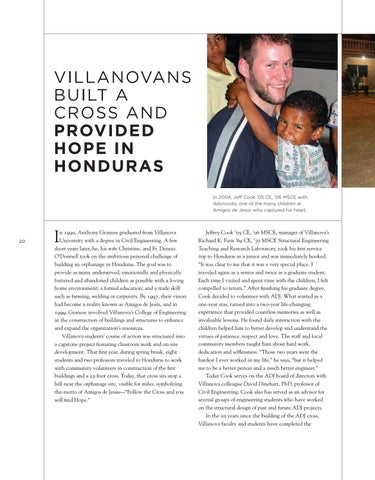 Page 22 of VILLANOVANS BUILT A CROSS AND PROVIDED HOPE IN HONDURAS