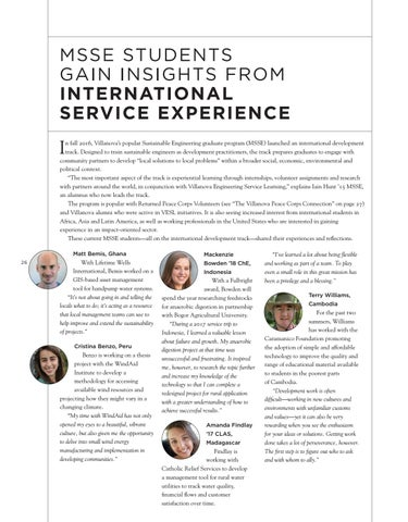 Page 28 of MSSE STUDENTS GAIN INSIGHTS FROM INTERNATIONAL SERVICE EXPERIENCE