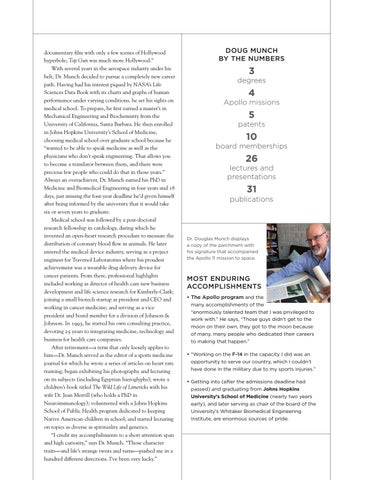 Page 35 of DOUGLAS MUNCH, PHD, '69 CHE: MODERN-DAY RENAISSANCE MAN