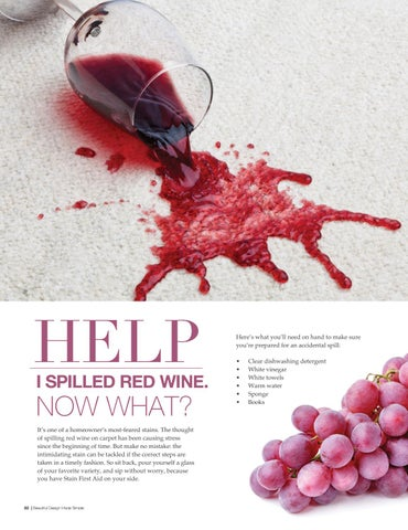 Page 84 of How to Tackle a Wine Stain