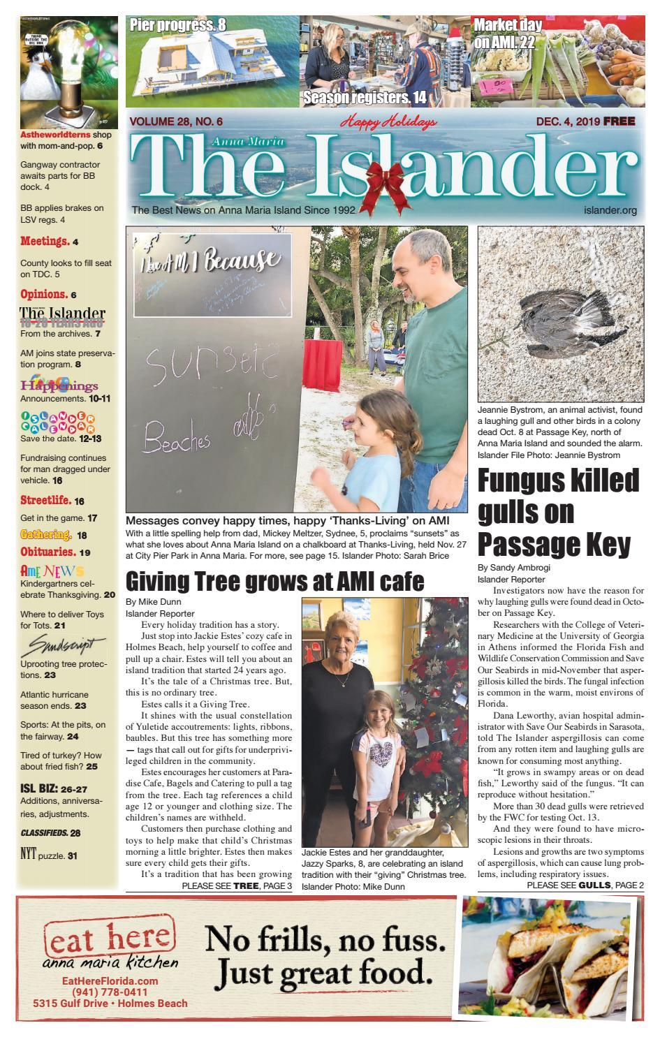 The Islander Newspaper E Edition Wednesday Dec 04 19 By The Anna Maria Islander Newspaper Issuu