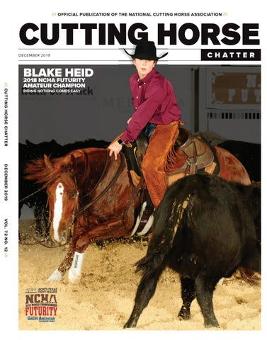 Ncha Cutting Horse Chatter December 2019 By Cowboy