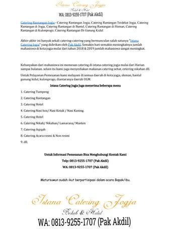 Page 2 of Hanya disini!! Telp: 0813-9255-1707-9255 (Pak Akdil) Catering Rantangan Di Bantul