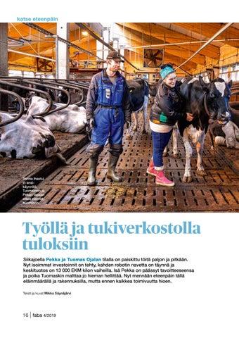 Page 16 of Työllä ja tukiverkostolla tuloksiin