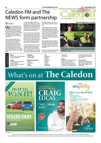 Page 4 of Caledon FM and The NEWS form partnership