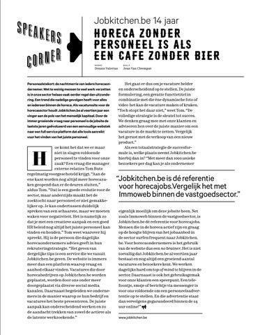 Page 25 of Horeca zonder personeel is als een cafe zonder bier