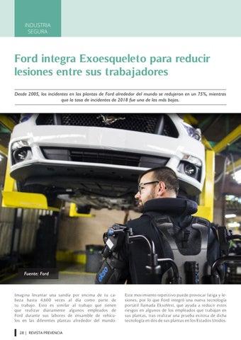 Page 28 of Ford integra Exoesqueleto para reducir lesiones entre sus trabajadores