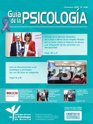 Guía Del Psicólogo Mes De Diciembre 2019 By Colegio Oficial