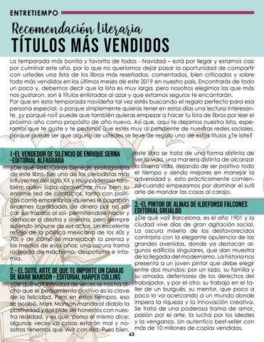 Page 64 of Recomendación Literaria TÍTULOS MÁS VENDIDOS