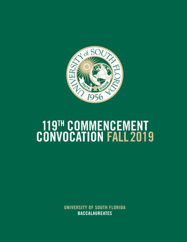 Fall 2019 USF Tampa Undergraduate Commencement Program by USF ...