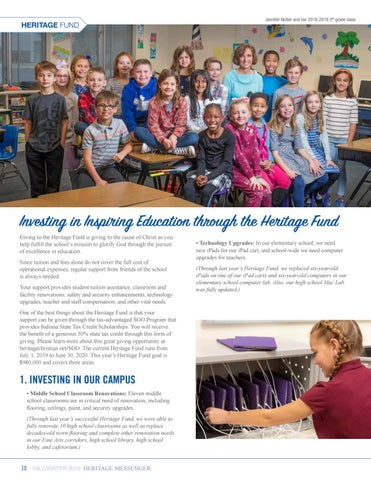 Page 10 of Investing in Inspiring Education through the Heritage Fund