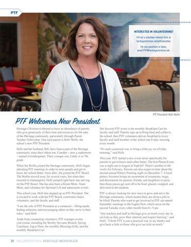Page 20 of PTF Welcomes New President