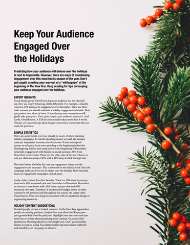 Page 15 of Keep Your Audience Engaged Over the Holidays
