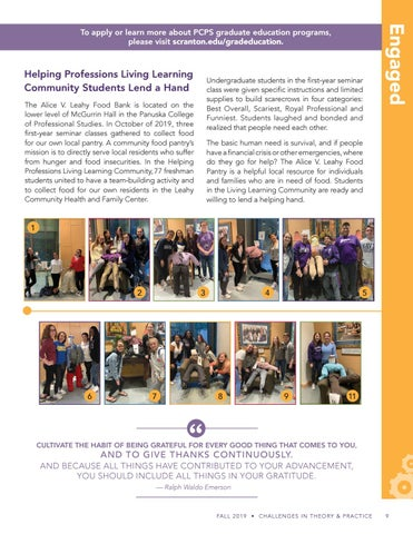 Page 9 of Helping Professions Living Learning Community Students Lend a Hand