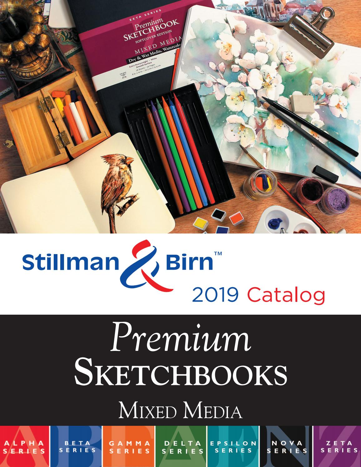 270 gsm White Paper Smooth Surface 6 x 8 Stillman /& Birn Zeta Series Wirebound Sketchbook Extra Heavyweight