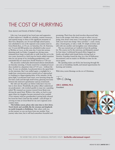 Page 3 of THE COST OF HURRYING