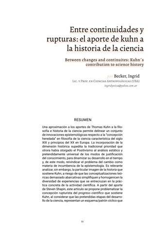 Page 11 of Entre continuidades y rupturas: el aporte de kuhn a la historia de la ciencia