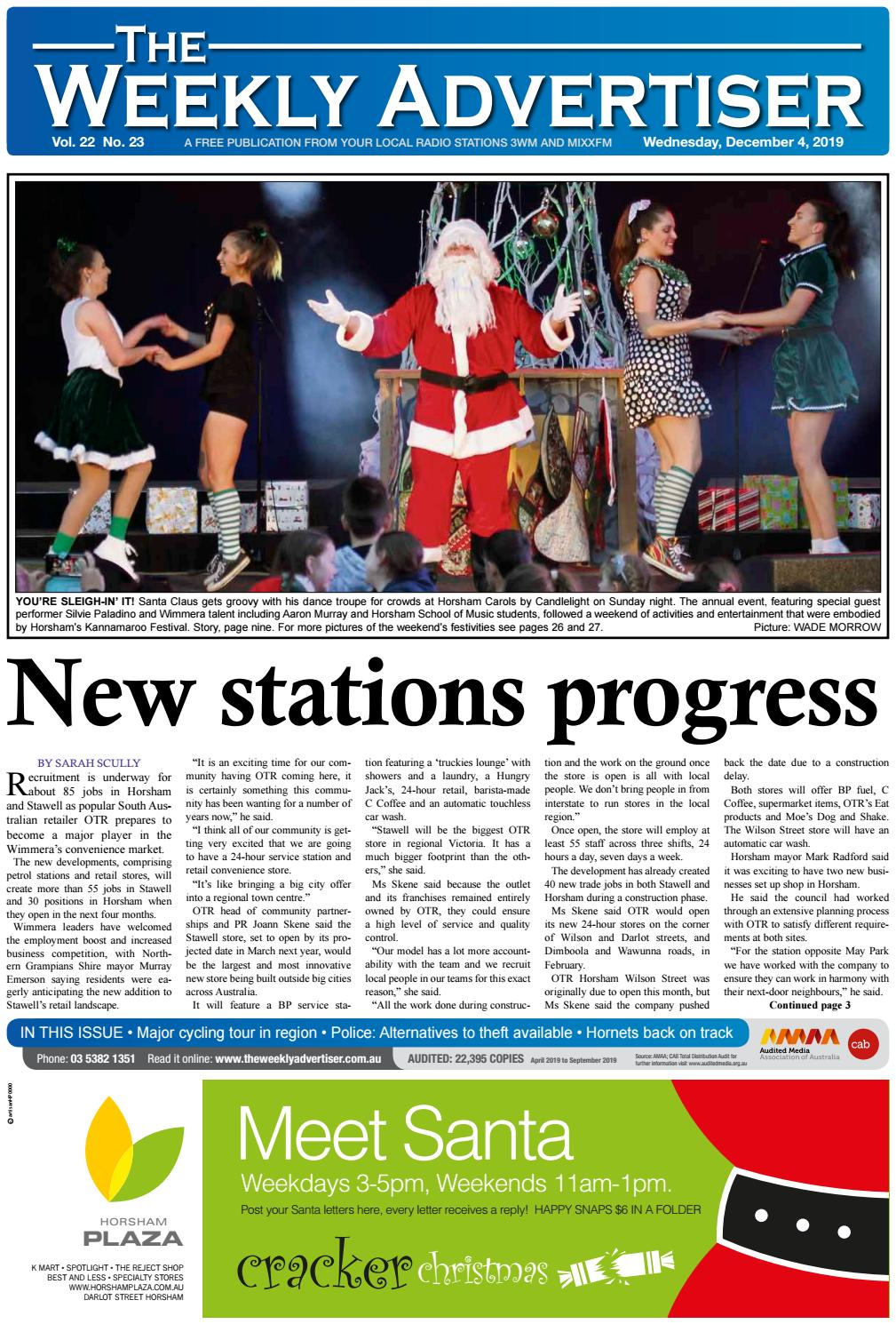The Weekly Advertiser Wednesday December 4 2019 By The