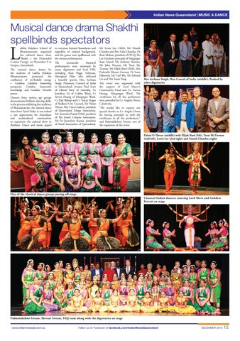 Page 15 of Indian News Queensland - December 2019 Vol 3 Issue 3
