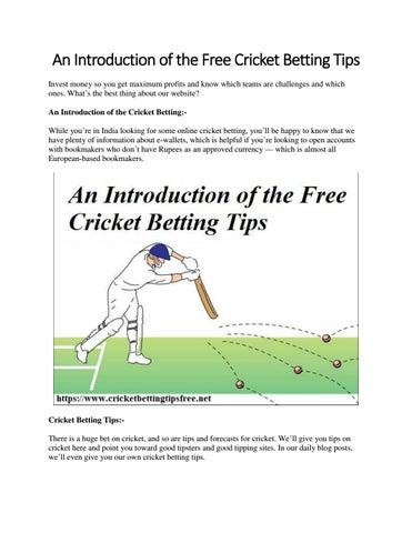 Cricket betting tips website ivanovic bouchard betting websites