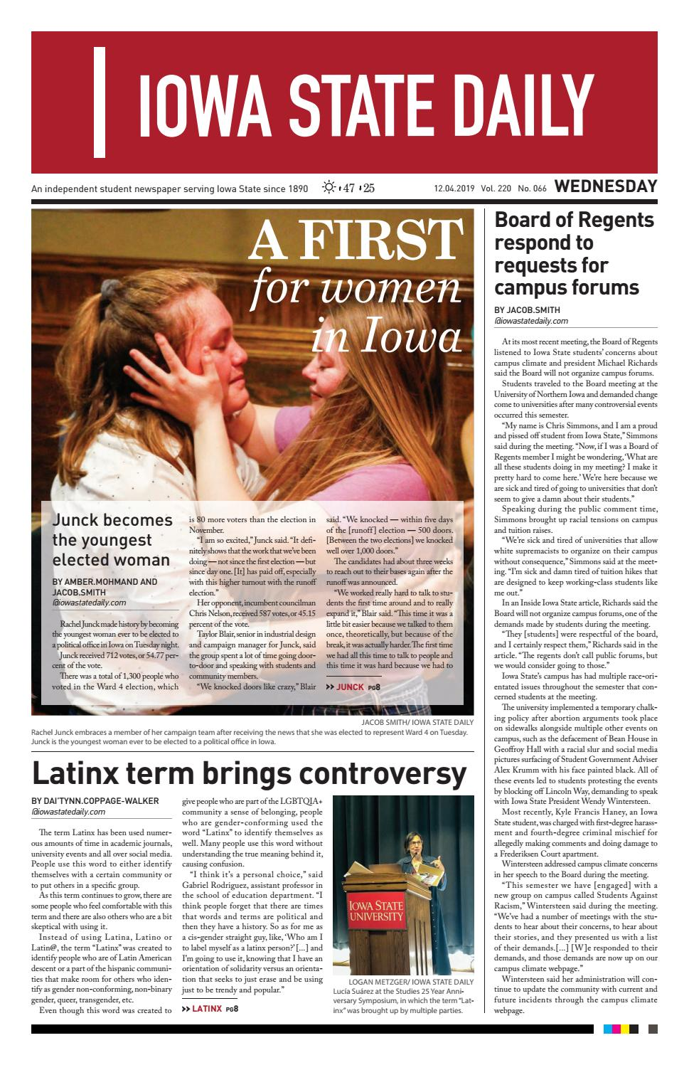 12.4.19 by Iowa State Daily issuu