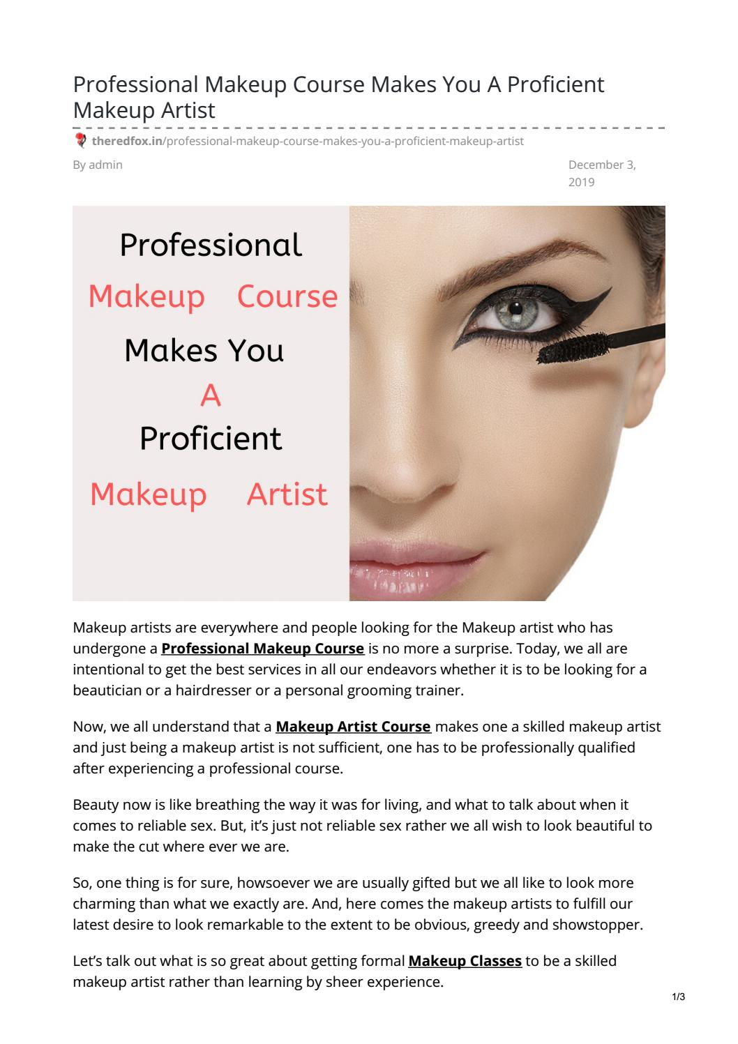 Professional Makeup Course Makes You A