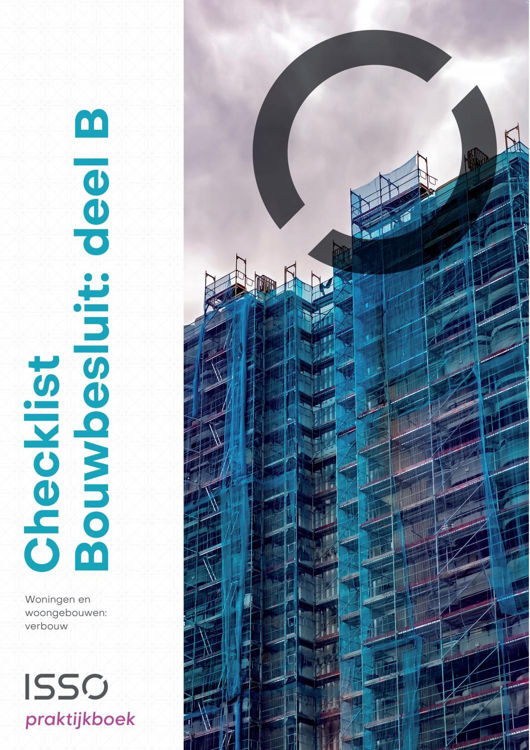 Praktijkboek Checklist Bouwbesluit B 2019 By Stichting Isso Issuu
