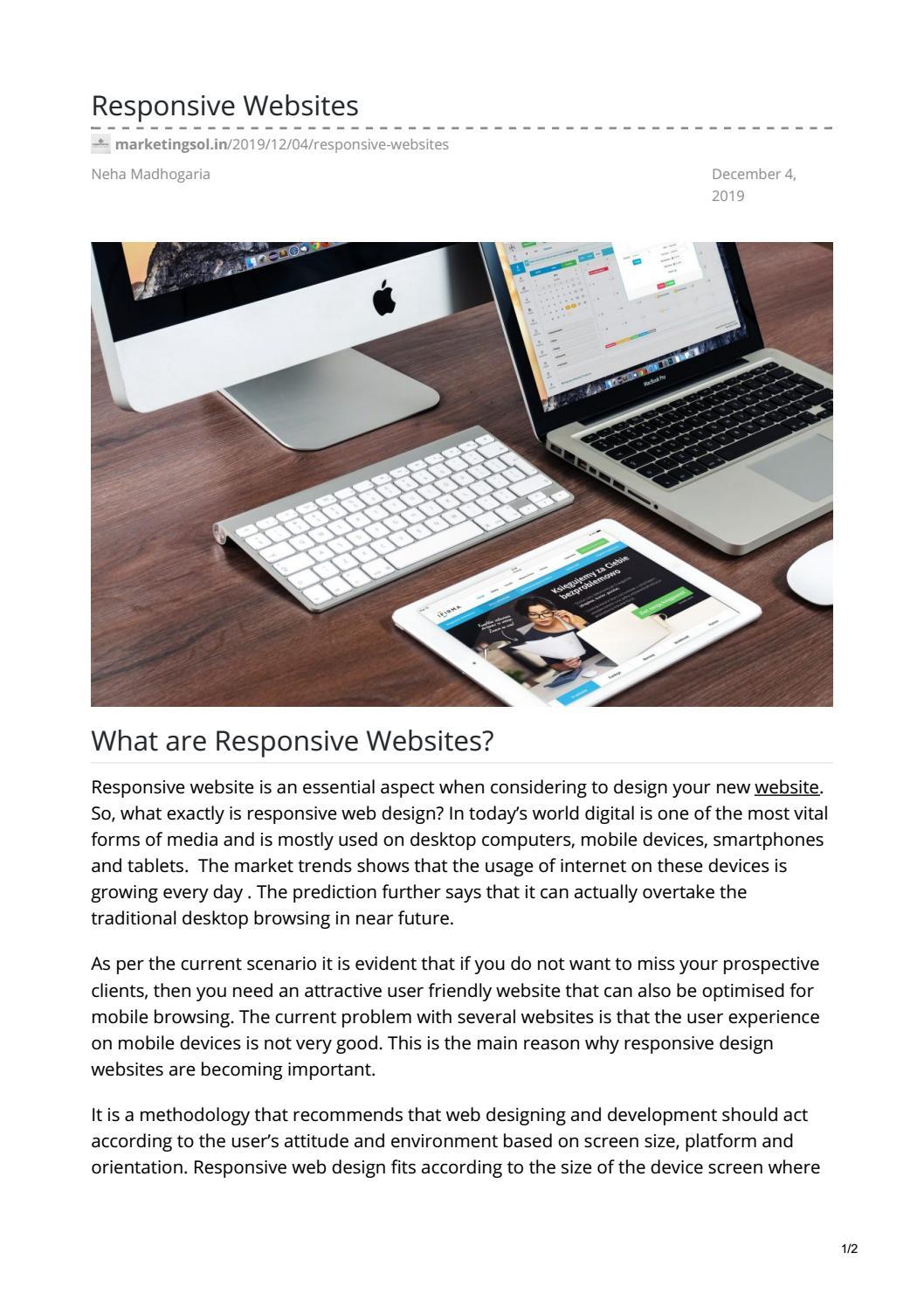 Responsive Websites By N Marketing Sol Issuu