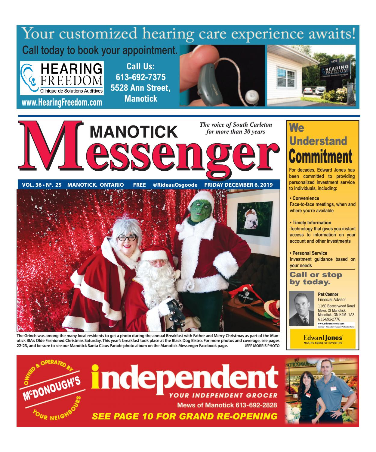 Manotick Messenger December 6 2019 By J Morris Issuu