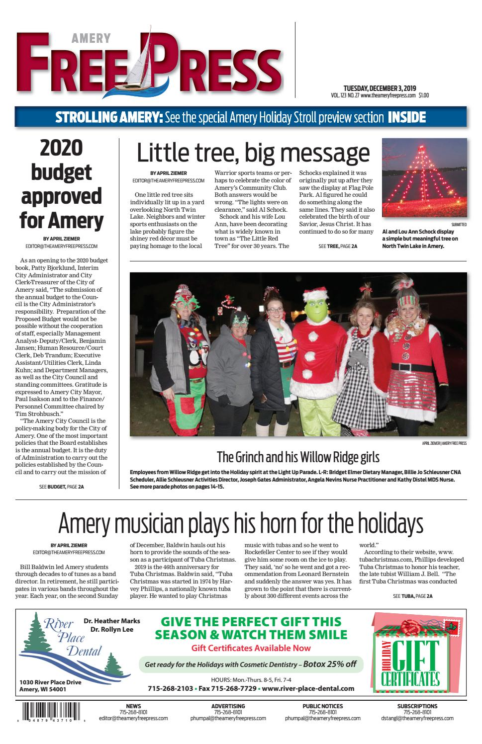 Amery Free Press December 3 2019 By Amery Free Press Issuu