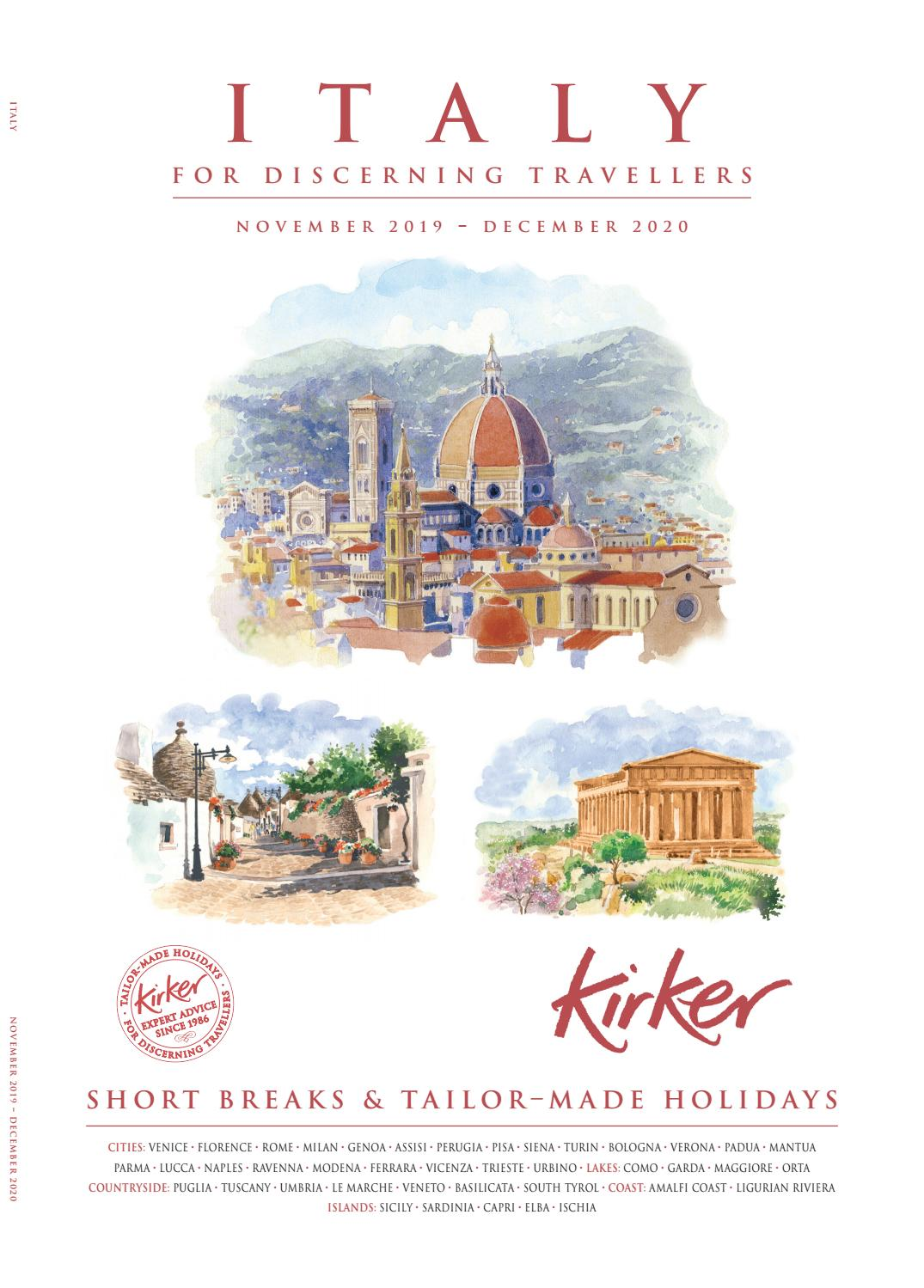 Italy For Discerning Travellers 2020 Kirker Holidays By