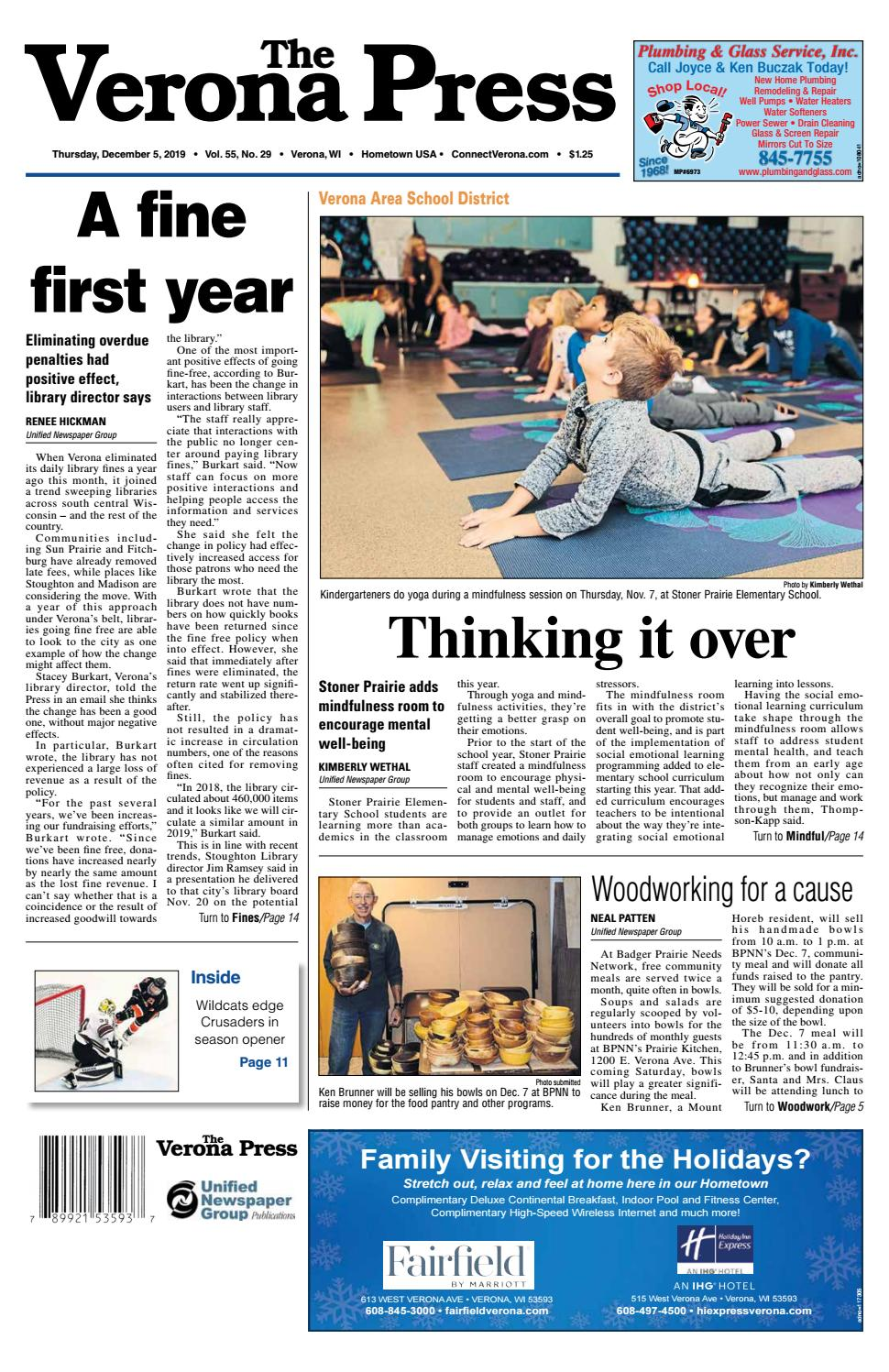 12/5/19 Verona Press by Woodward Community Media - issuu