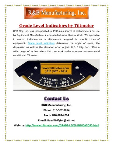 Page 1 of Grade Level Indicators by Tiltmeter