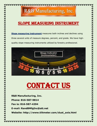 Page 1 of Slope Measuring Instrument