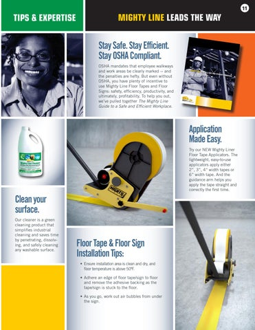 Page 11 of Specialty Floor Tape and New Mighty Liner Floor Tape Applicator