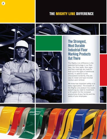 Page 2 of Mighty Line Floor Tape- The toughest floor tape and leader in industrial floor marking tape products