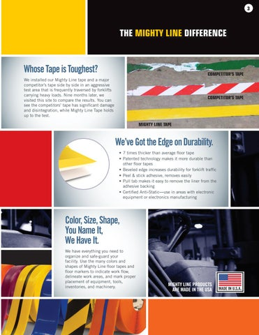 Page 3 of Mighty Line Floor Tape- The toughest floor tape and leader in industrial floor marking tape products