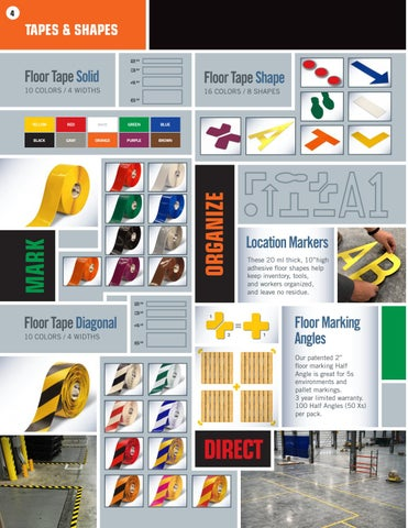 Page 4 of Mighty Line Safety Floor Tape and Specialty Floor Marking Tape