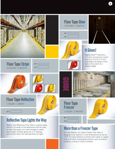 Page 5 of Mighty Line Safety Floor Tape and Specialty Floor Marking Tape