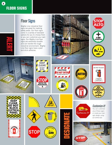 Page 8 of Mighty Line Floor Signs and New Mighty Line Products