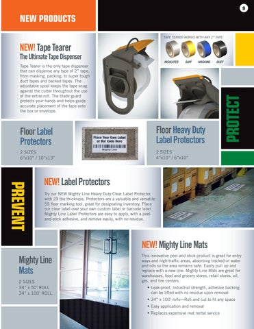 Page 9 of Mighty Line Floor Signs and New Mighty Line Products