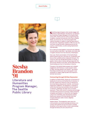Page 24 of Stesha Brandon '91 Literature and Humanities Program Manager, The Seattle Public Library