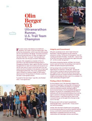 Page 26 of Olin Berger '03 Ultramarathon Runner, U.S. Trail Team Champion