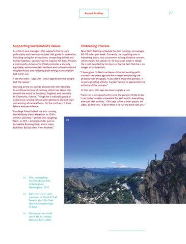 Page 27 of Olin Berger '03 Ultramarathon Runner, U.S. Trail Team Champion