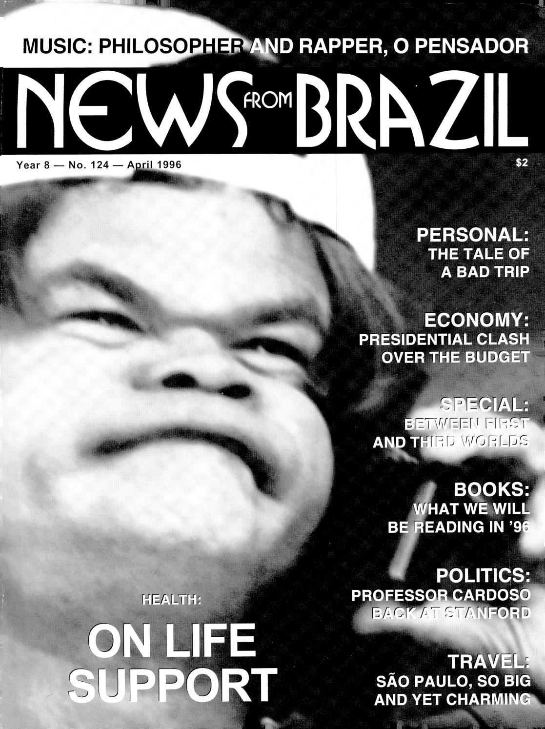 A Dor Não Mata Se Deus Está Presente brazzil - year 8 - number 124 - april 1996brazzil