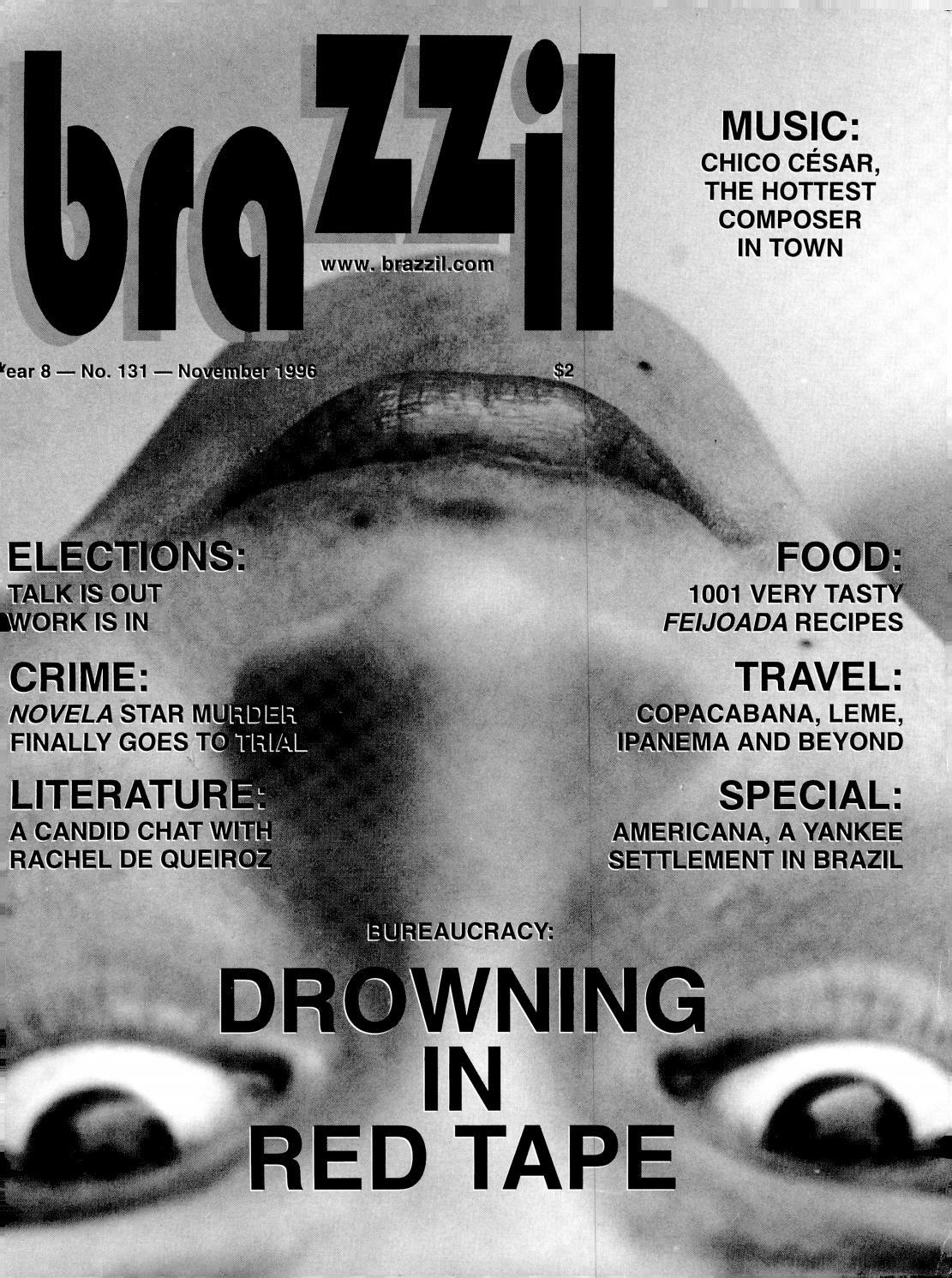 Brazzil Year 8 Number 131 November 1996 By Brazzil Magazine