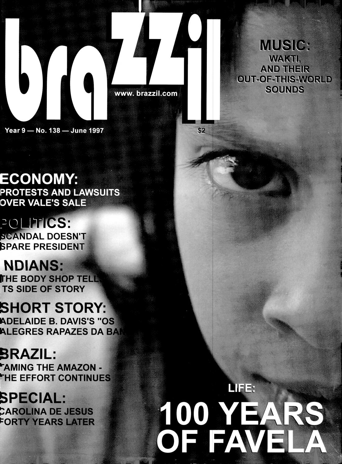 Brazzil Year 9 Number 138 June 1997 By Brazzil Magazine Issuu