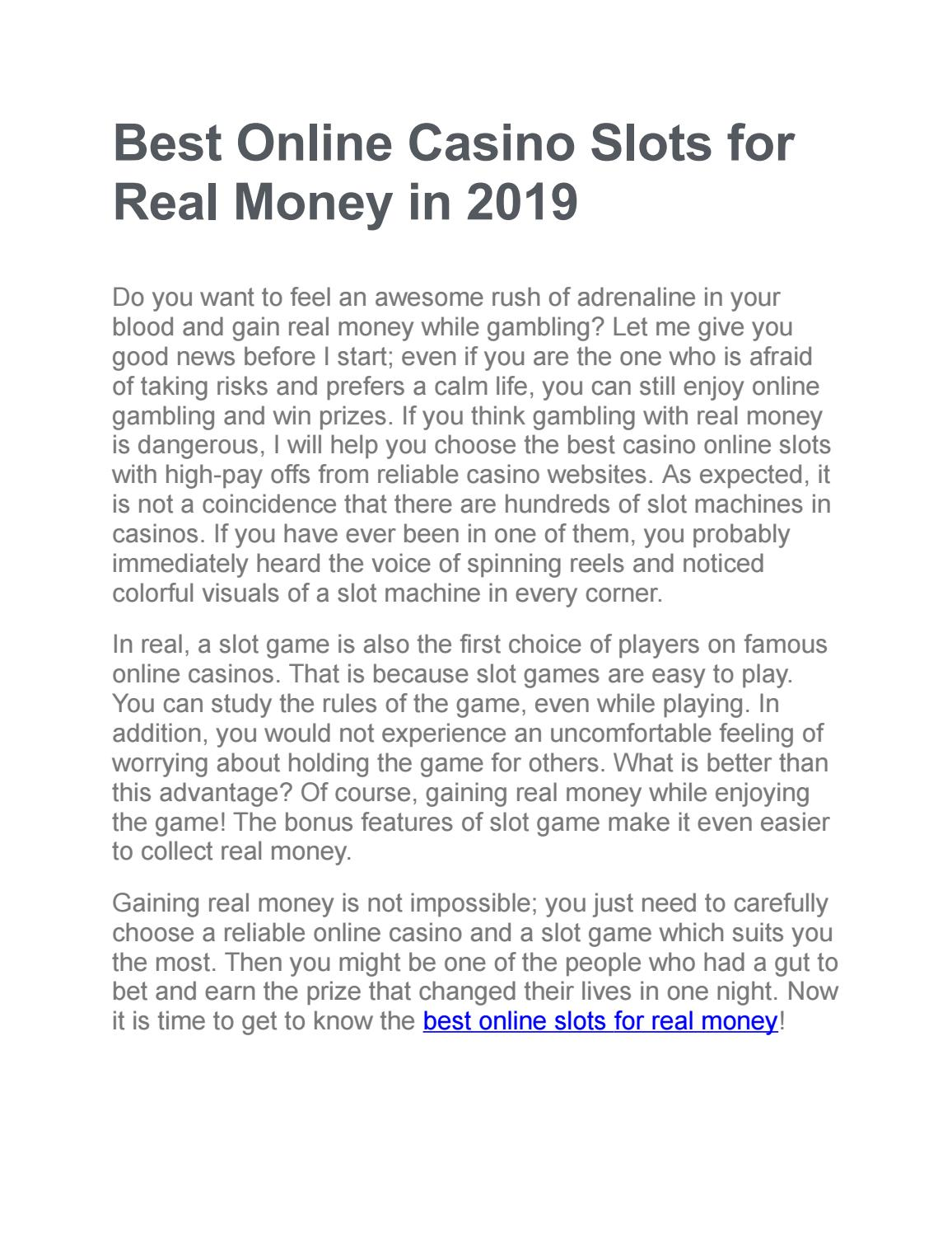 Best Online Slots For Real Money By Wrightalysa9 Issuu